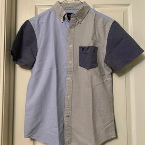 Men's American Eagle Short Sleeve Button Down